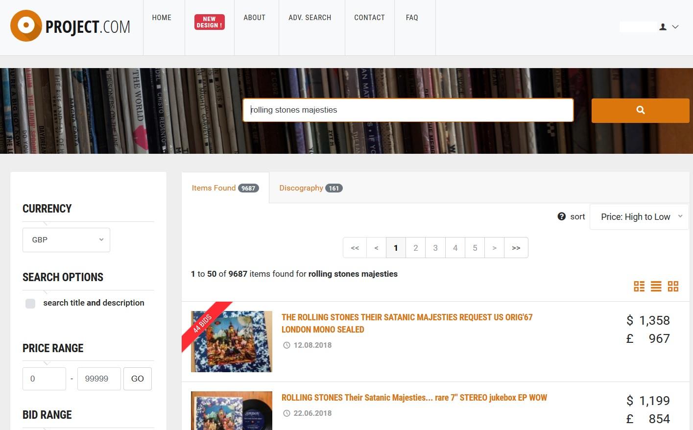 Popsike Com New Design Vinyl Records Price Guide