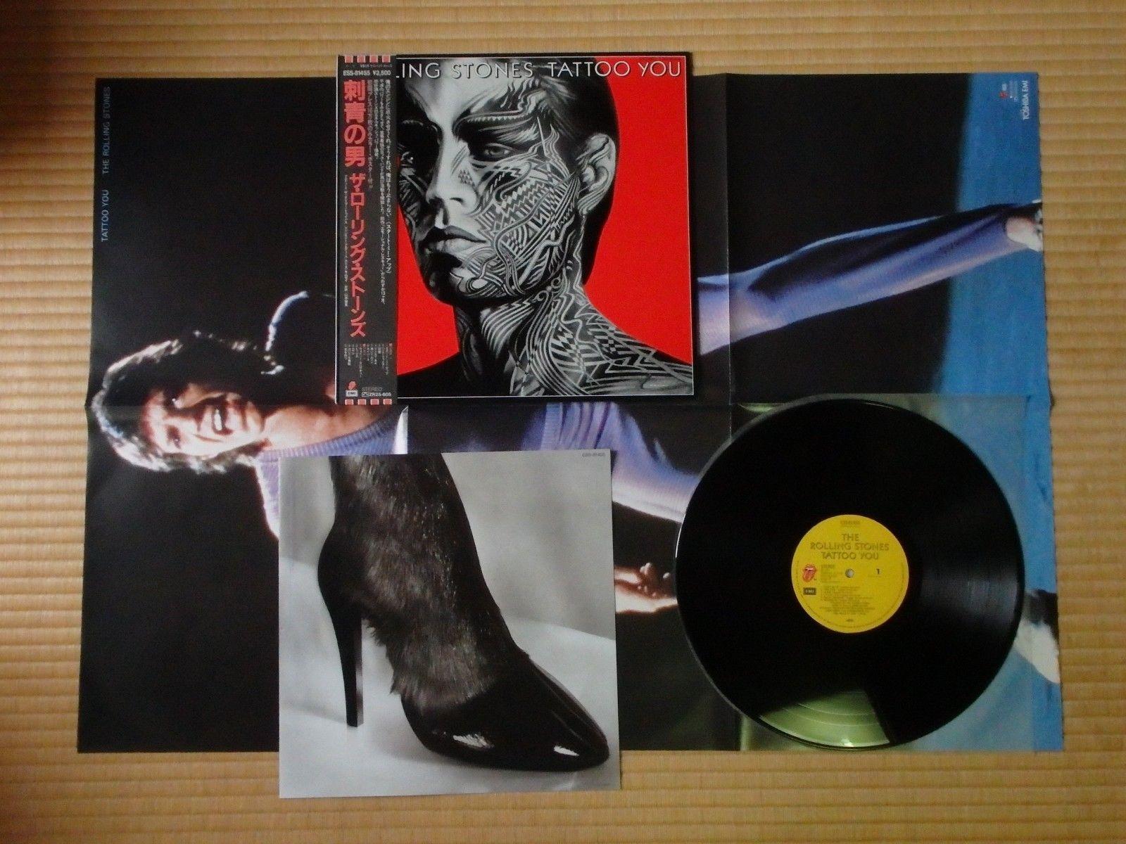 The Rolling Stones –Tattoo You ESS-81455 1st Japan pressing Poster Obi Near Mint