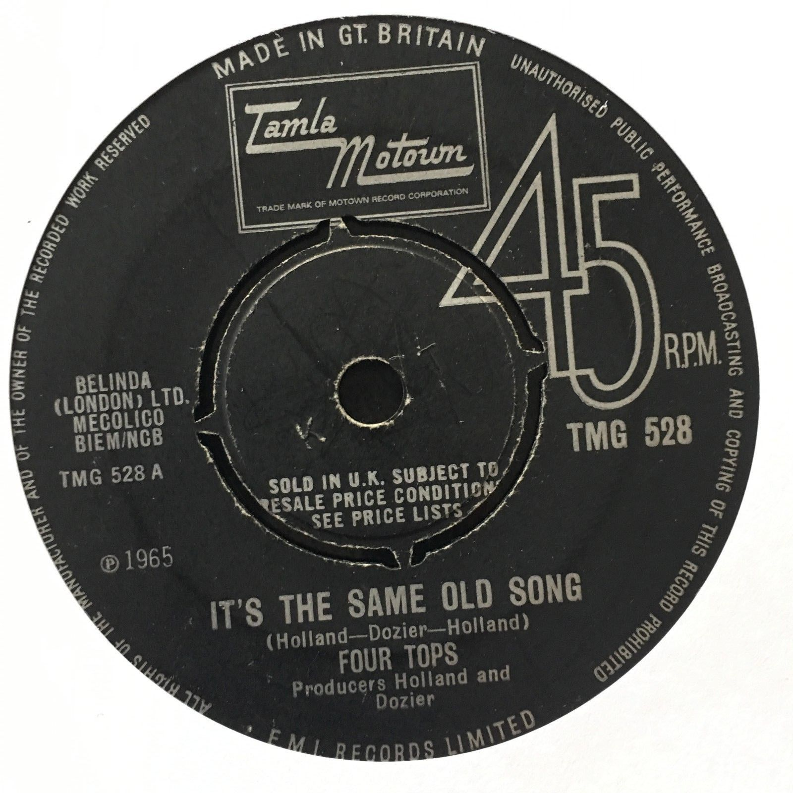 NORTHERN SOUL four tops 'its the same old song'  TMG528UK