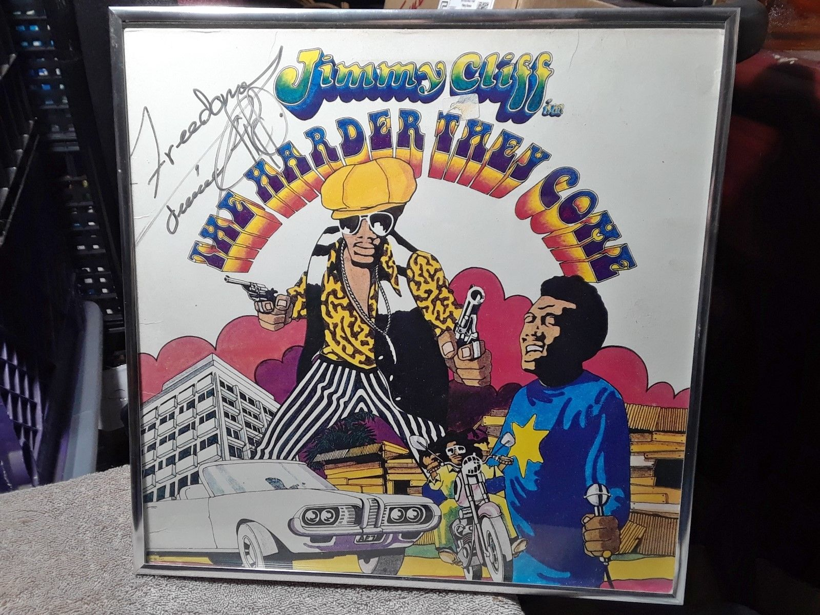 Autographed The Harder They Come Record  Album LP Hand Signed By Jimmy Cliff