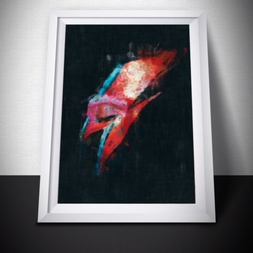David Bowie Ziggy Stardust Painting Print. David Bowie Poster. David Bowie Gift