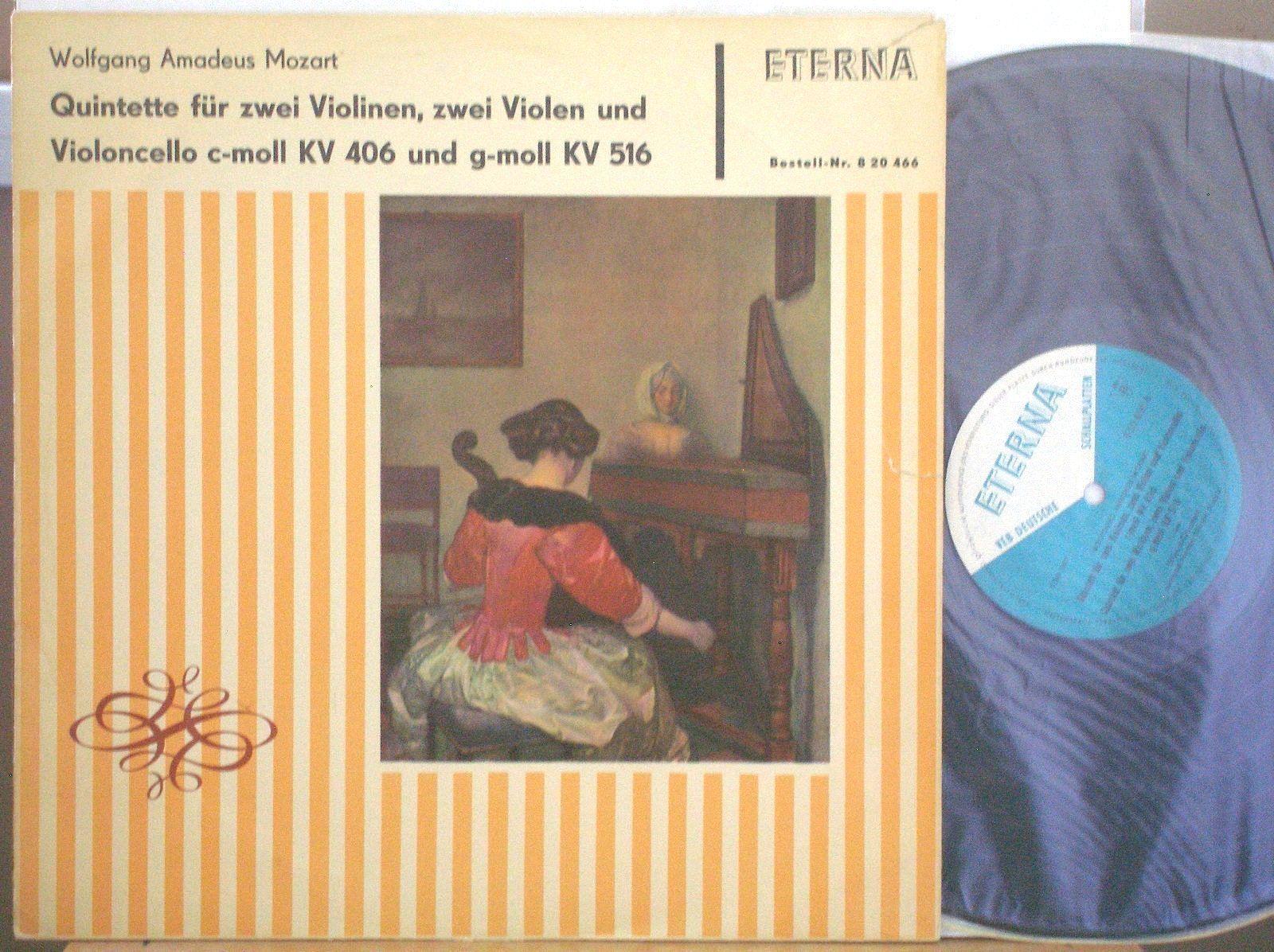 ULBRICH-QUARTETT Mozart String Quintett KV406/516 ETERNA 820466 MONO ED1