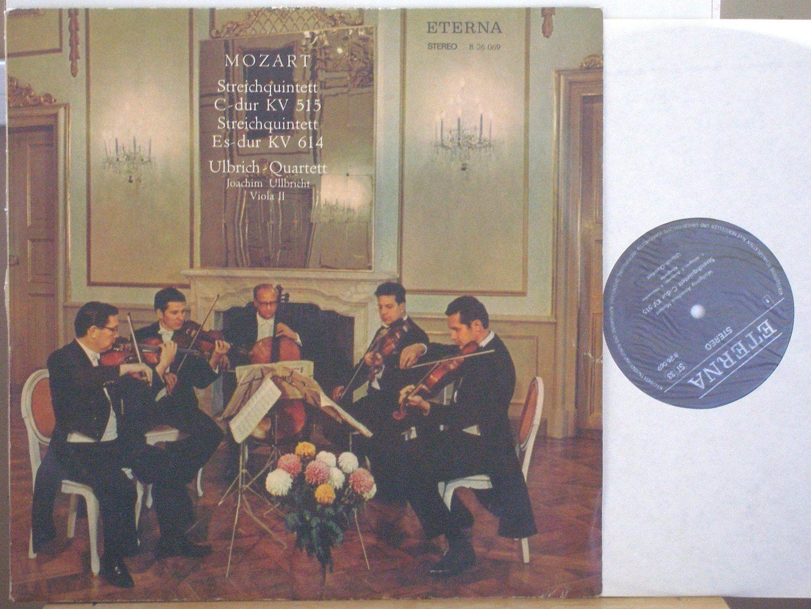 ULBRICH-QUARTETT Mozart String Quintett KV515/614 ETERNA 826069 STEREO ED1