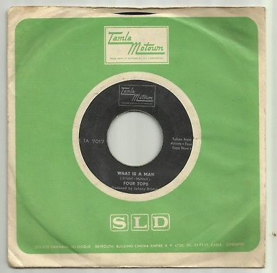Four Tops RARE Lebanese 45 What Is A Man LSN? 60's Motown Northern Soul Classic
