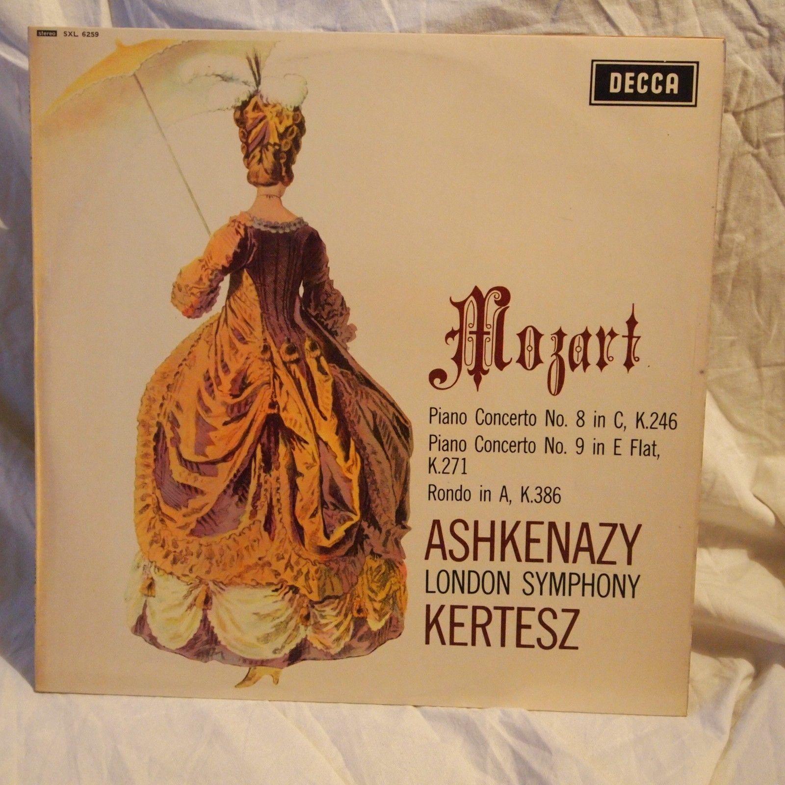 DECCA SXL 6259 KERTESZ & ASHKENAZY Mozart Piano Concert 8 & 9 ORIGINAL Wbg UK NM