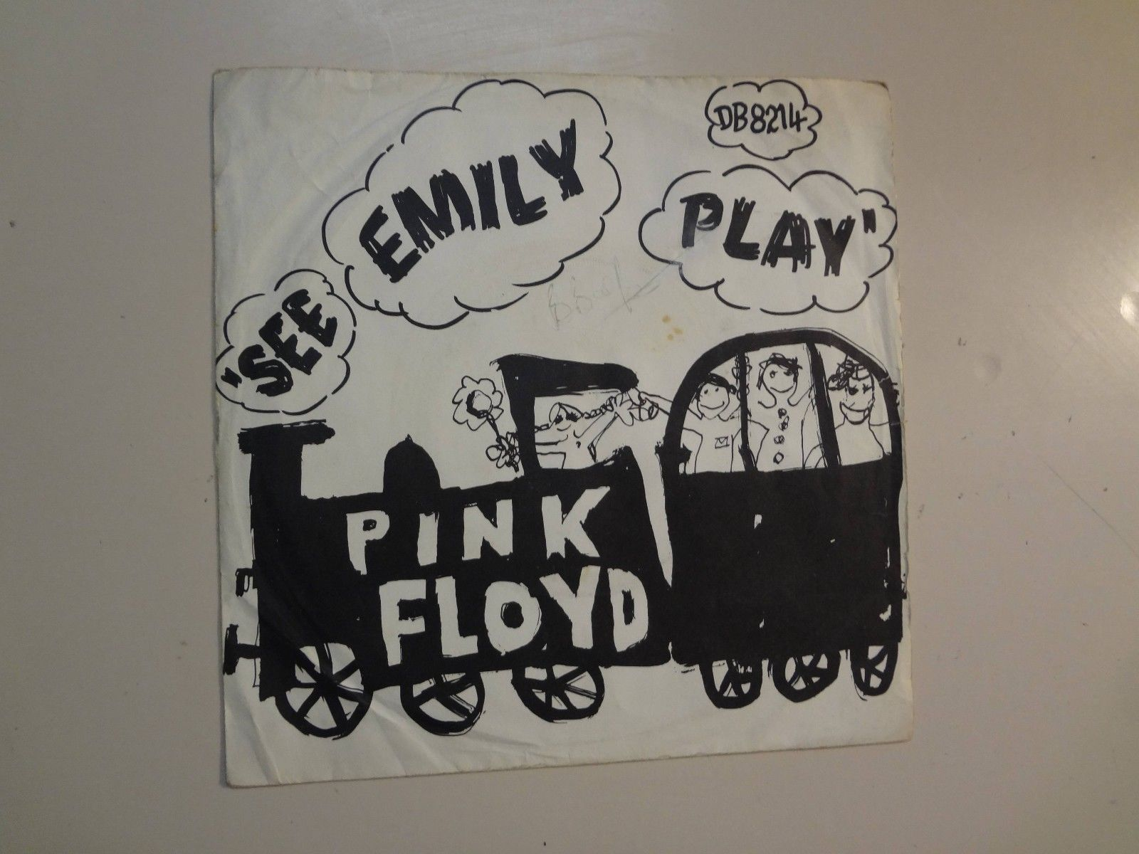 "PINK FLOYD: See Emily Play-Scarecrow-U.K. 7"" 1967 Columbia DB 8214 Demo w/ASL DJ"
