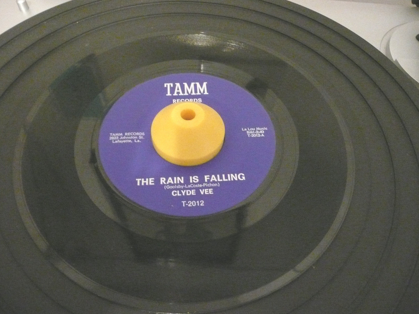 record 45 Clyde Vee on TAMM   I Love You Goodbye / The Rain Is Falling VG++