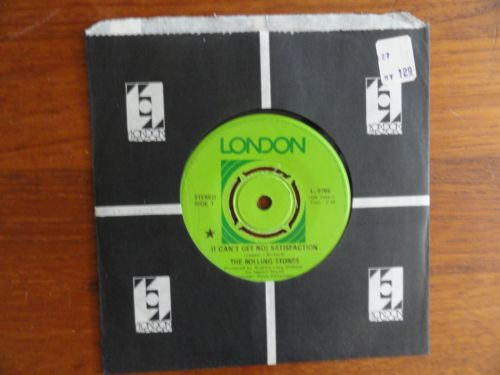 ROLLING STONES I Cant Get No Satisfaction RARE CANADA LONDON SOLID CENTER 45