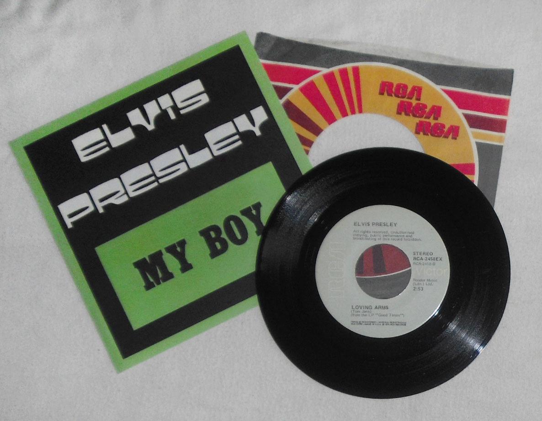 "Elvis 7"" 45 EXPORT Single My Boy / Loving Arms RCA-2458EX USA Pressing 1974 RARE"