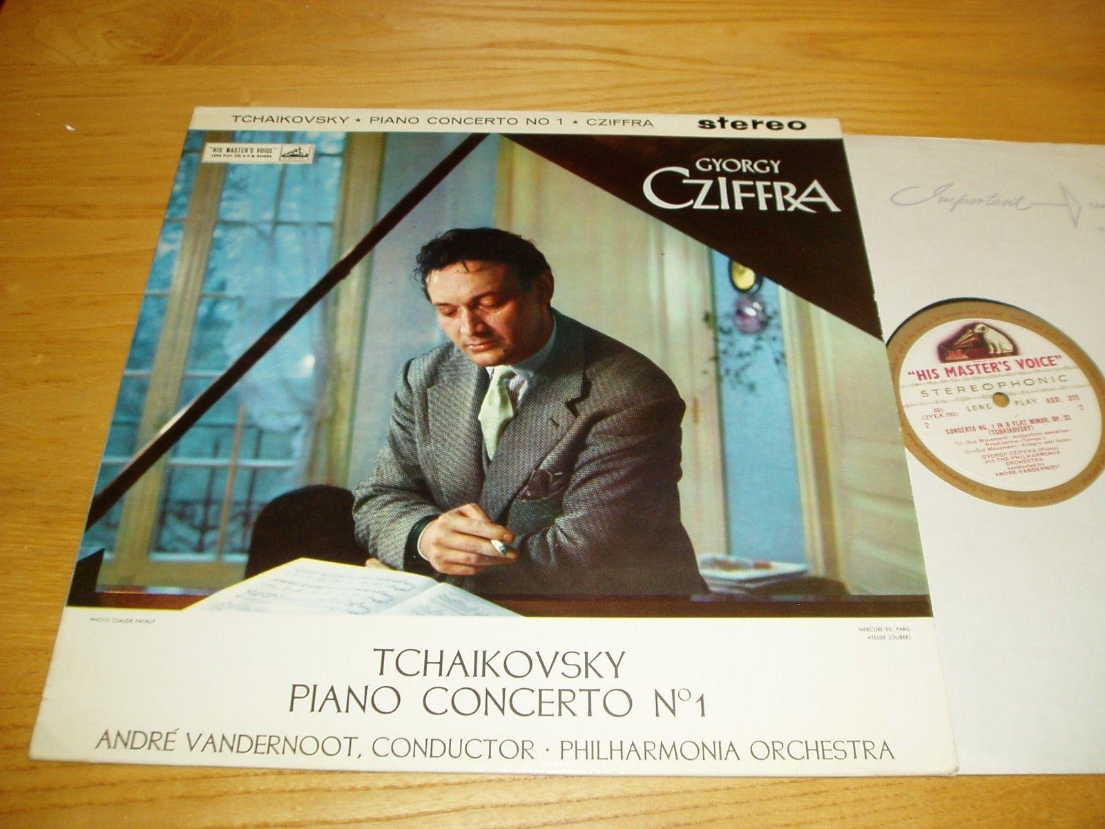 HMV ASD 315 UK 1st C/G TCHAIKOVSKY - PIANO CONCERTO NO. 1 *GYORGY CZIFFRA* EX+