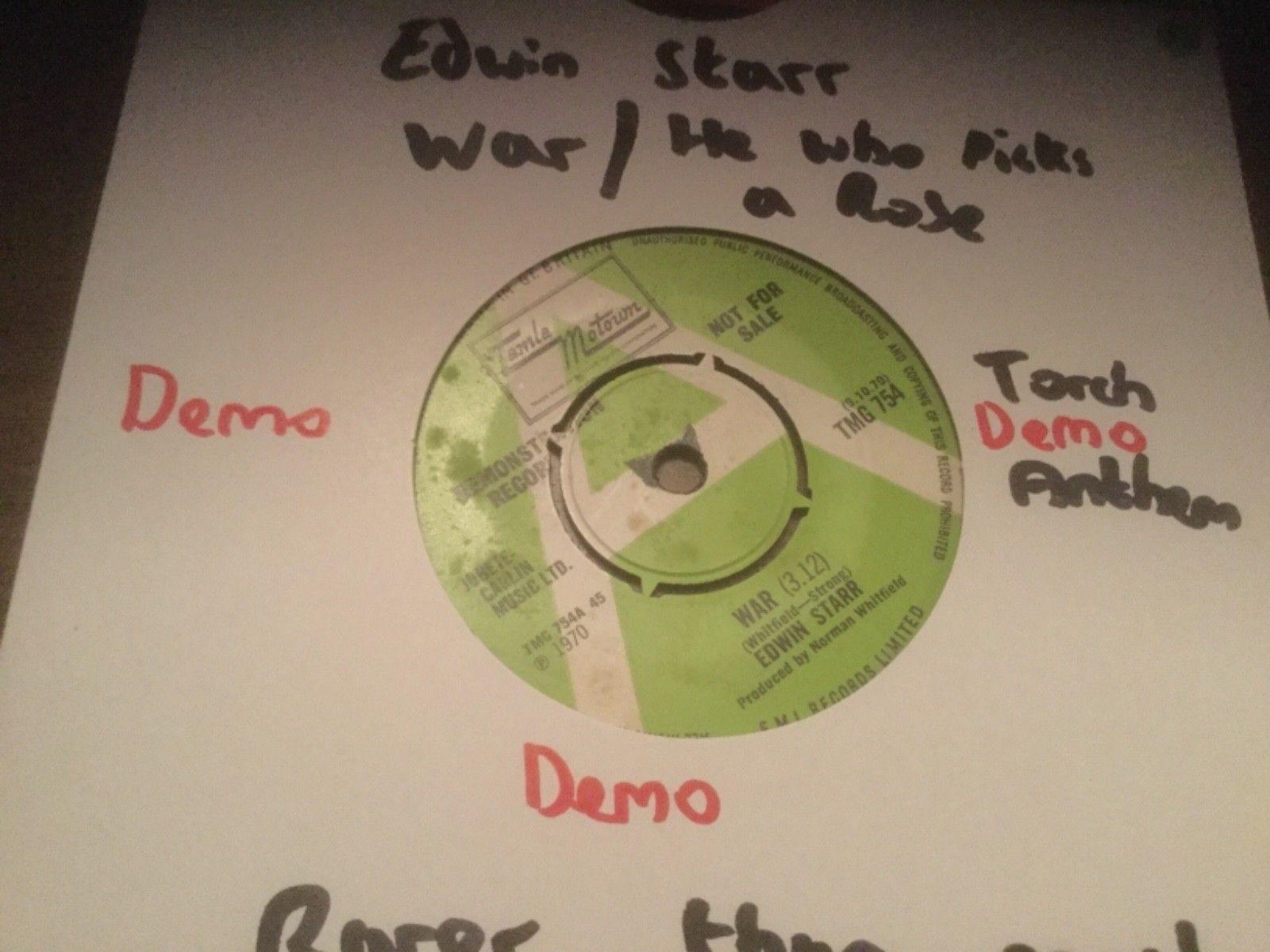Edwin Starr War / he who picks a rose Tamla Motown green and white demo TMG 754