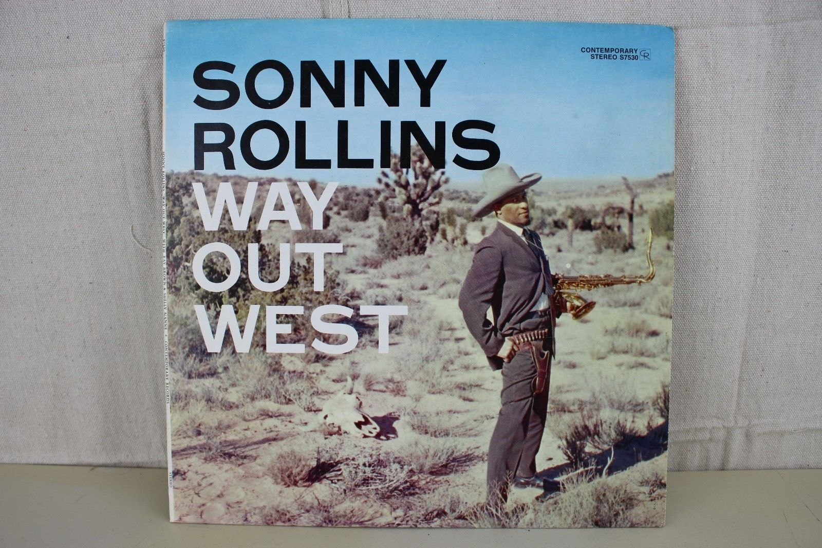 """Sonny Rollins """"Way Out West' Contemporary Stereo S7530 Jazz LP"""