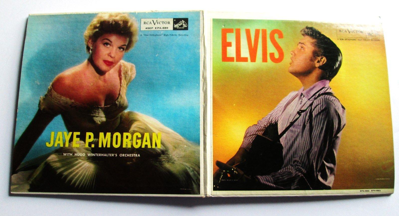 '56 Elvis Presley / Jaye P Morgan EP RCA-EPA-992/689 Promo Sampler RARE Original