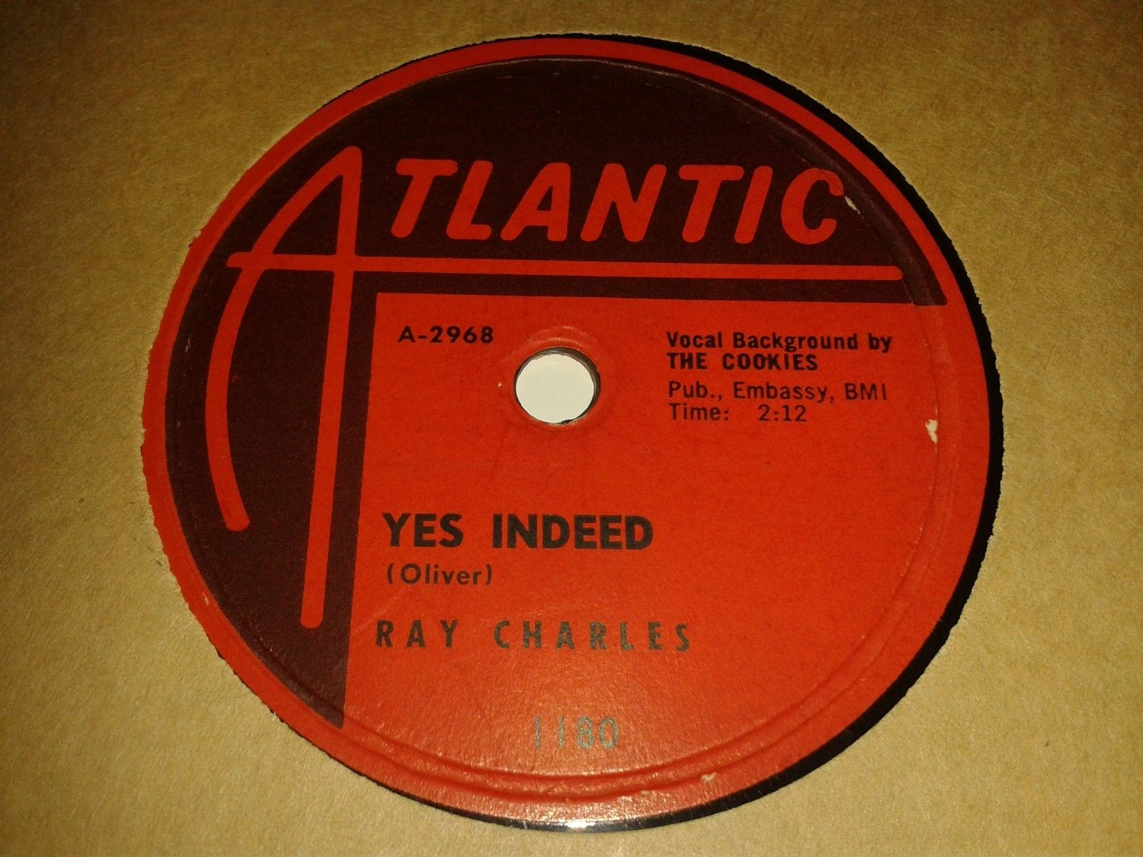 RAY CHARLES : YES INDEED / I HAD A DREAM.  US.78rpm (1958)
