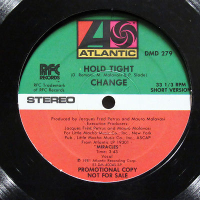"""CHANGE-HOLD TIGHT - PROMO ON ATLANTIC BOOGIE 12""""-NM"""