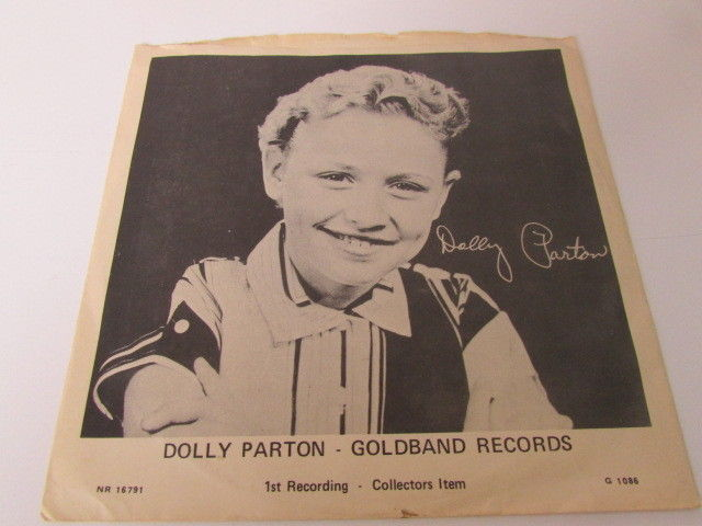 Rare Dolly Parton 45 & P/S - Puppy Love- 1st Record - Goldband Collectors Item