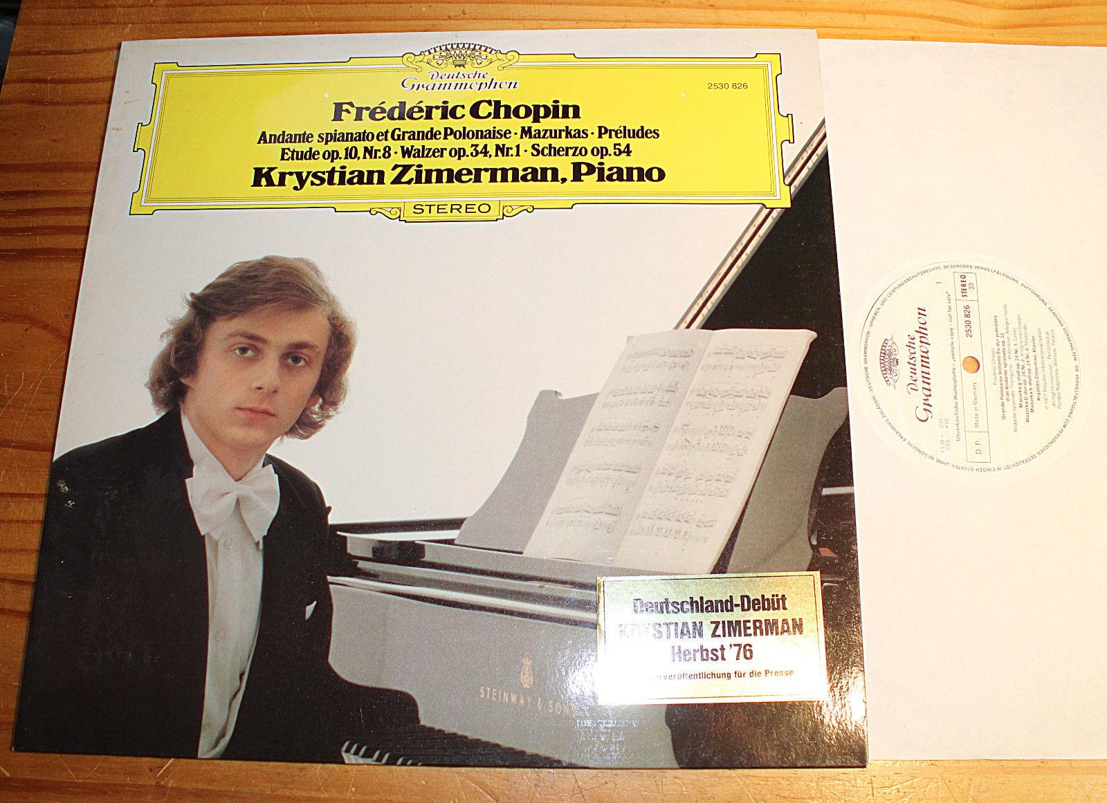 PROMO WHITE LABEL: Krystian ZIMERMAN Chopin Recital LP DG