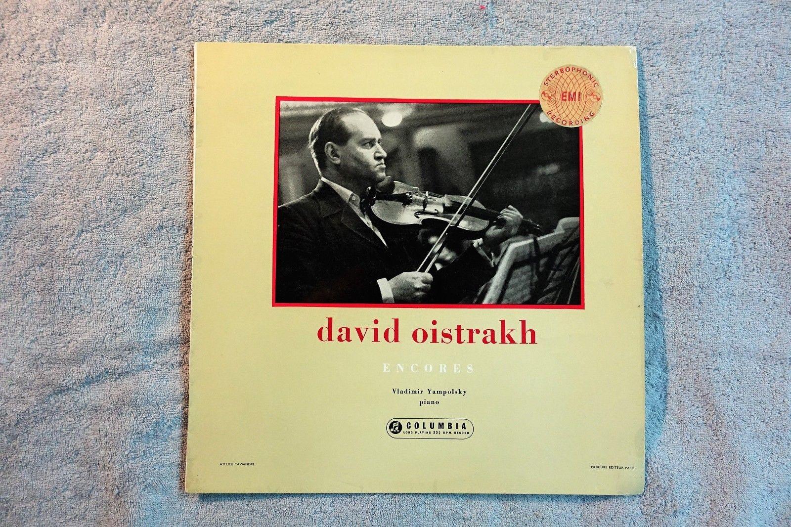 "DAVID OISTRAKH  RECITAL "" ENCORE""  SAX 2253 ,1ST PRESS"