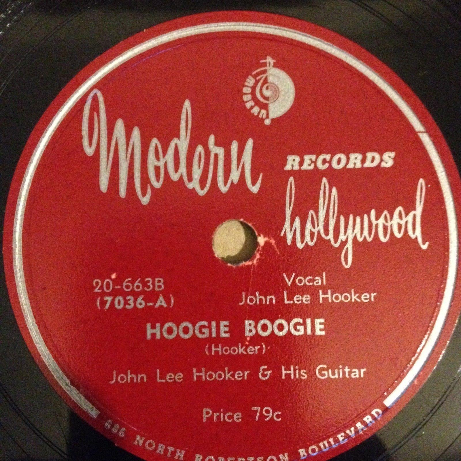 John Lee Hooker - Hoogie Boogie / Hobo Blues - Modern records 7036 -1949 -78 rpm