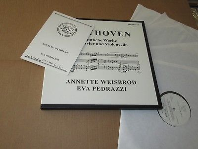 EVA PEDRAZZI WEISBROD BEETHOVEN COMPLETE CELLO 4 LP BOX MIRECOURT SIGNED 169/300