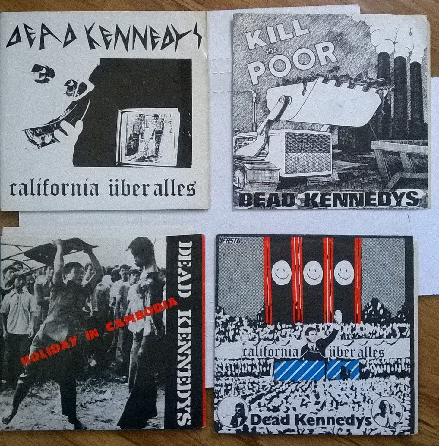 "DEAD KENNEDYS California Uberalles Kill The Poor Holiday Cambodia 7"" PUNK 45 lot"
