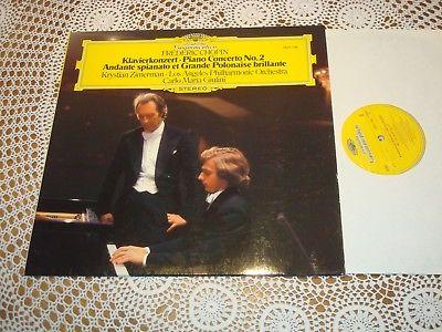 Chopin Piano Concerto No.2 KRYSTIAN ZIMERMAN GIULINI ORIG DGG LP 2531126 MINT