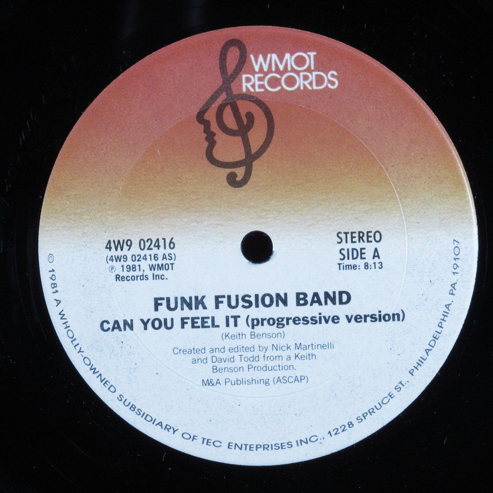 "FUNK FUSION BAND Can You Feel It WMOT 12"" VG++ HEAR"