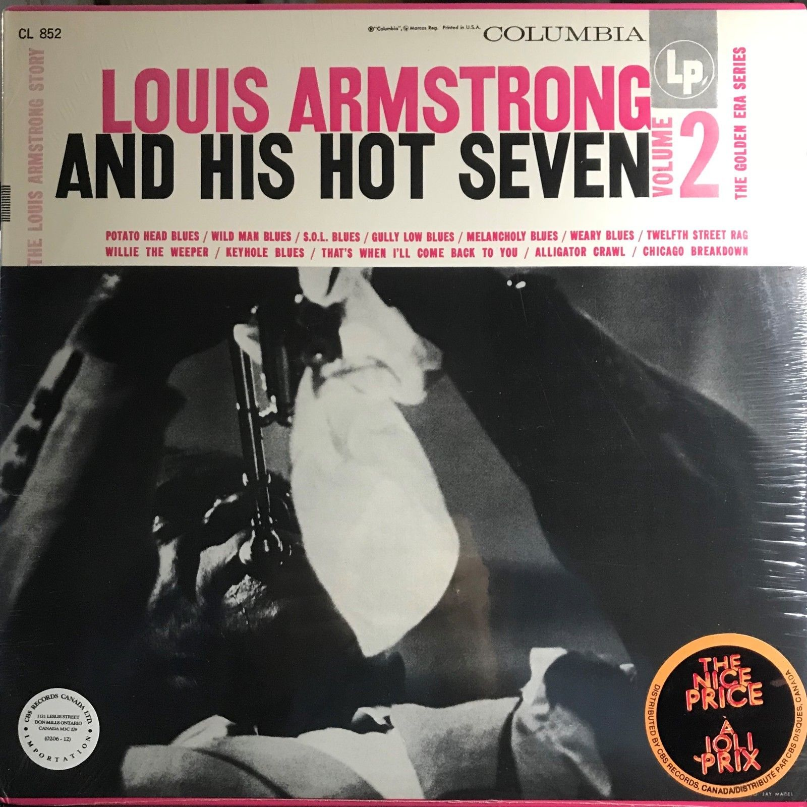 Louis Armstrong And His Hot Seven - Louis Armstrong Story - Volume II Vinyl LP.