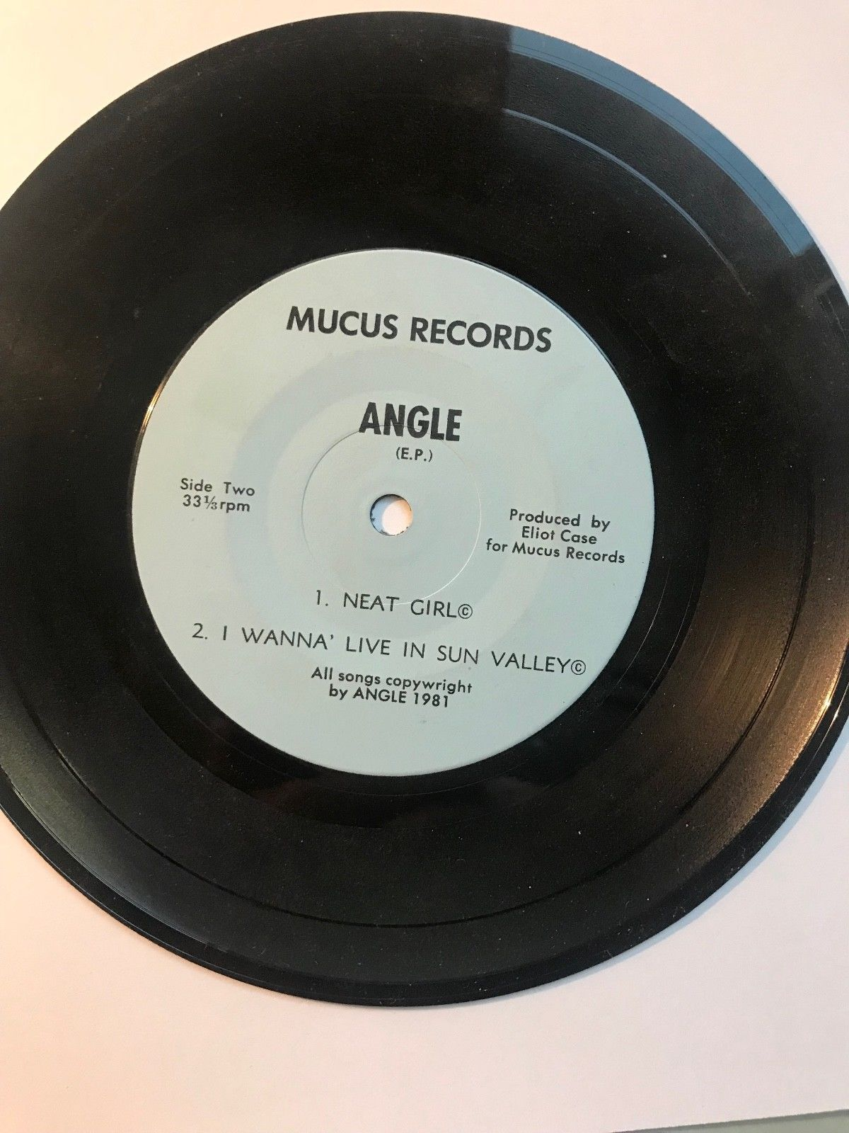"ANGLE "" rock & Roll Death Camp"" EP Mucus Records RARE Punk 45 RPM 7"" Excellent"