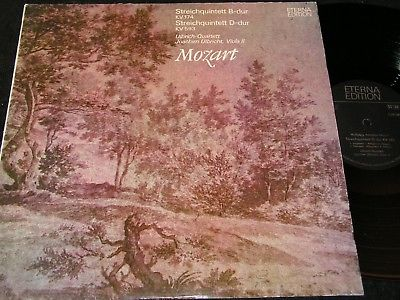 ULBRICH-QUARTETT Mozart Streichquintett B-dur KV174 / DDR LP 1975 ETERNA 826067