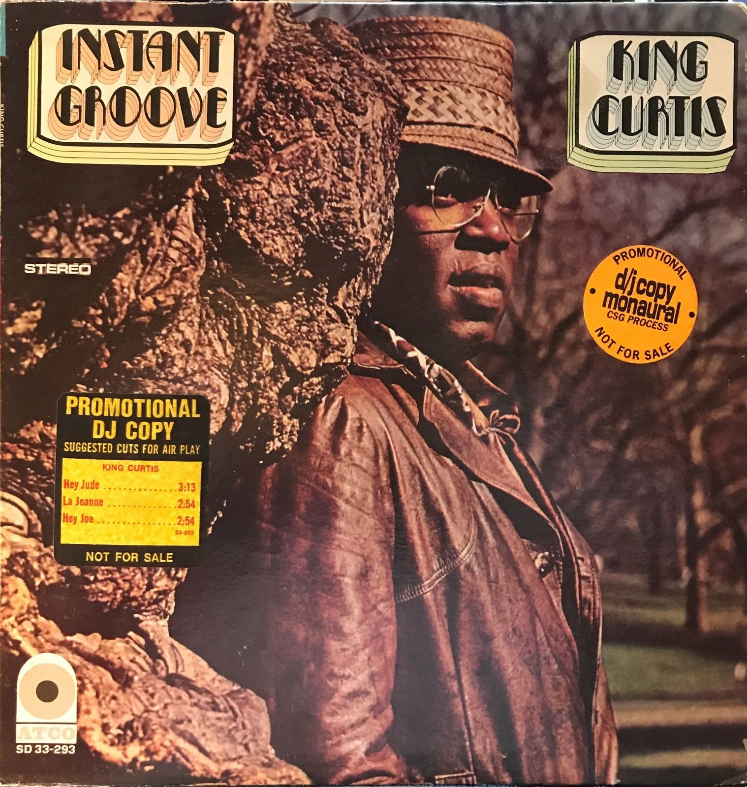 KING CURTIS Instant Groove MONO white label PROMO 1969 wlp feat. Jimi Hendrix