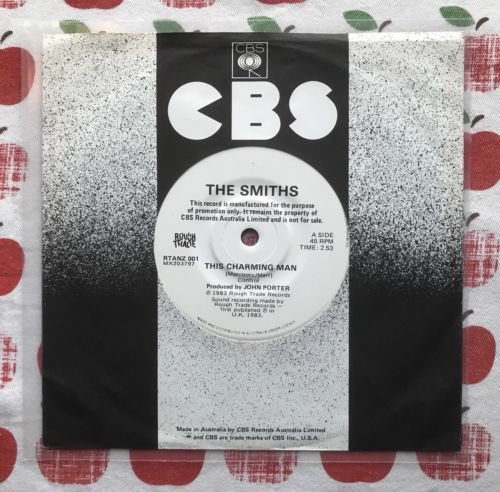 "THE SMITHS THIS CHARMING MAN AUSTRALIAN PROMO 7"" SINGLE MORRISSEY PUNK INDIE"