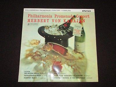 PHILHARMONIA PROMENADE CONCERT- HERBERT VON KARAJAN- 1961 COLUMBIA -B/S SAX 2404