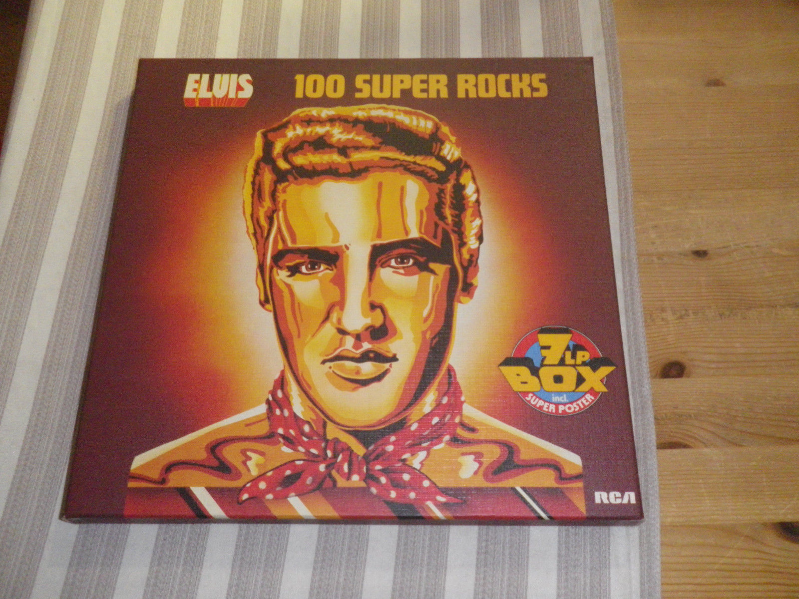 """ELVIS PRESLEY: 100 Super Rocks, 7 LP-BOX + SUPER POSTER, RCA, GER, 12""""    *TOP*"""