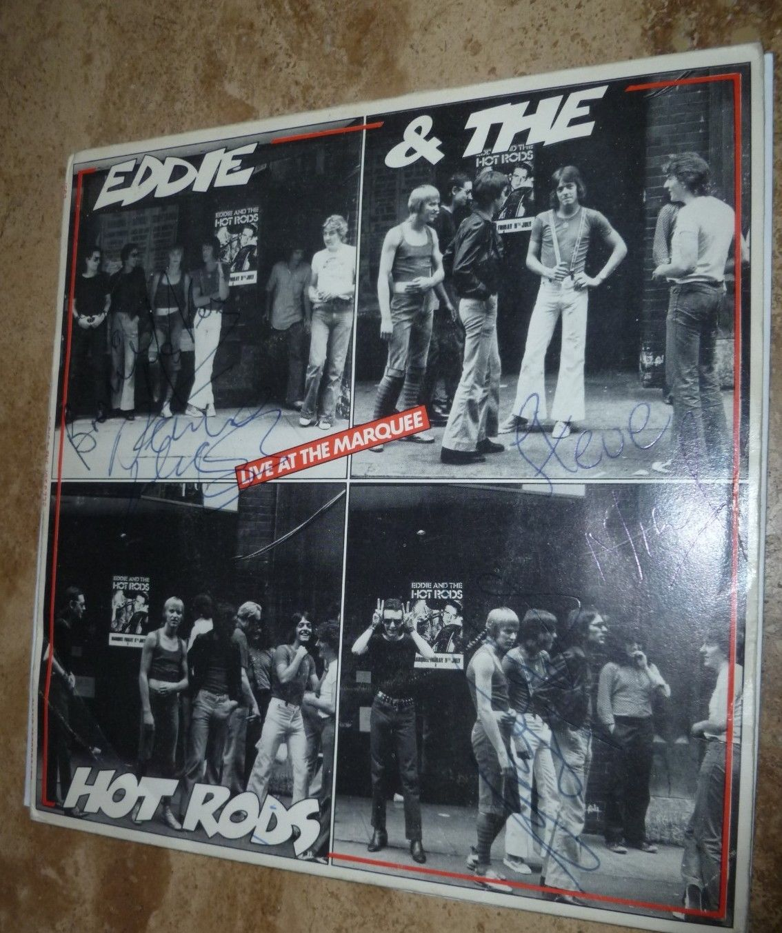 """EDDIE AND THE HOT RODS FULLY SIGNED LIVE AT THE MARQUEE 7"""""""