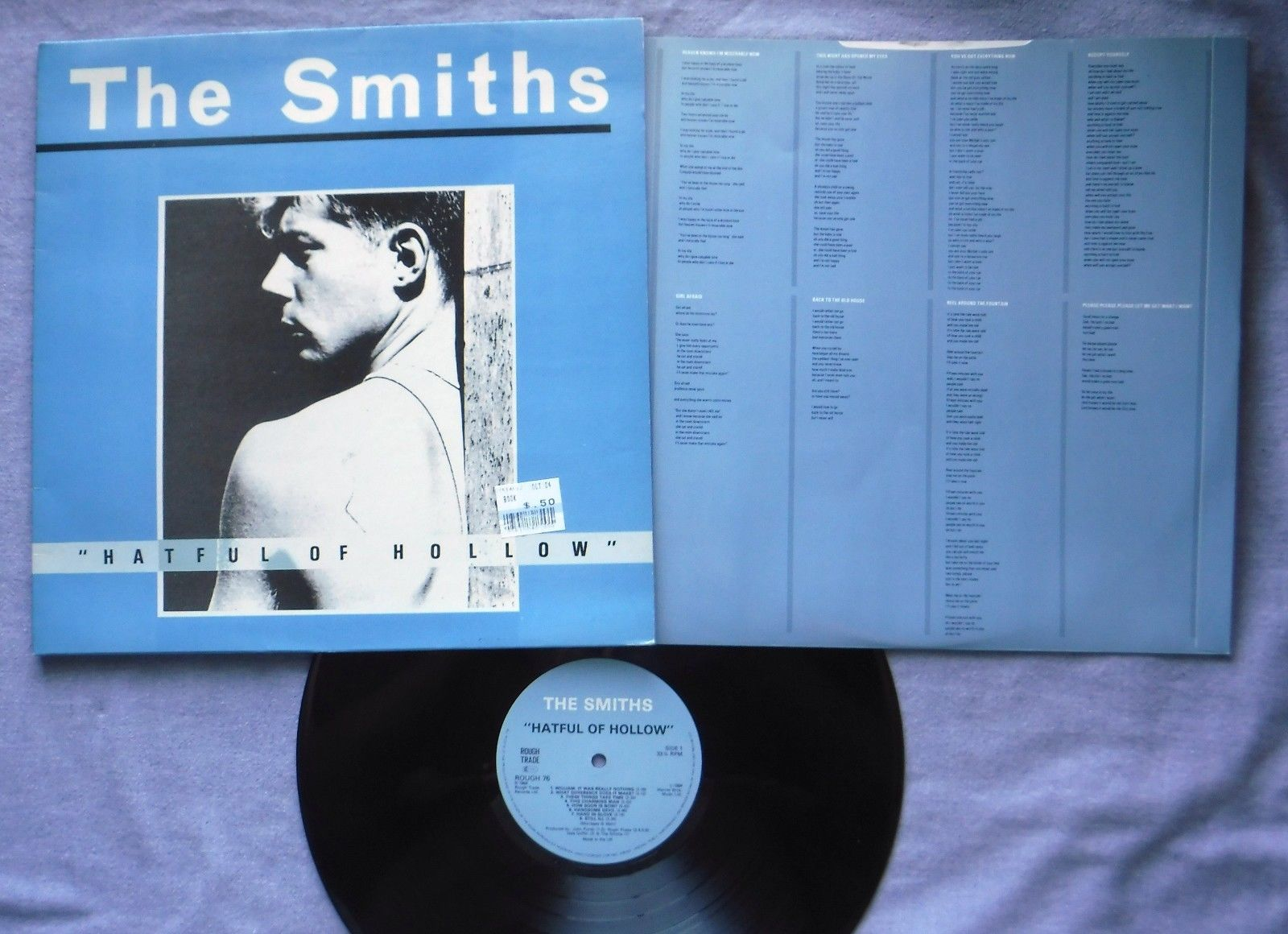 "The Smiths ""Hateful of Hollow"" LP Rough Trade ROUGH 76 1984 Import UK Inner G/VG"