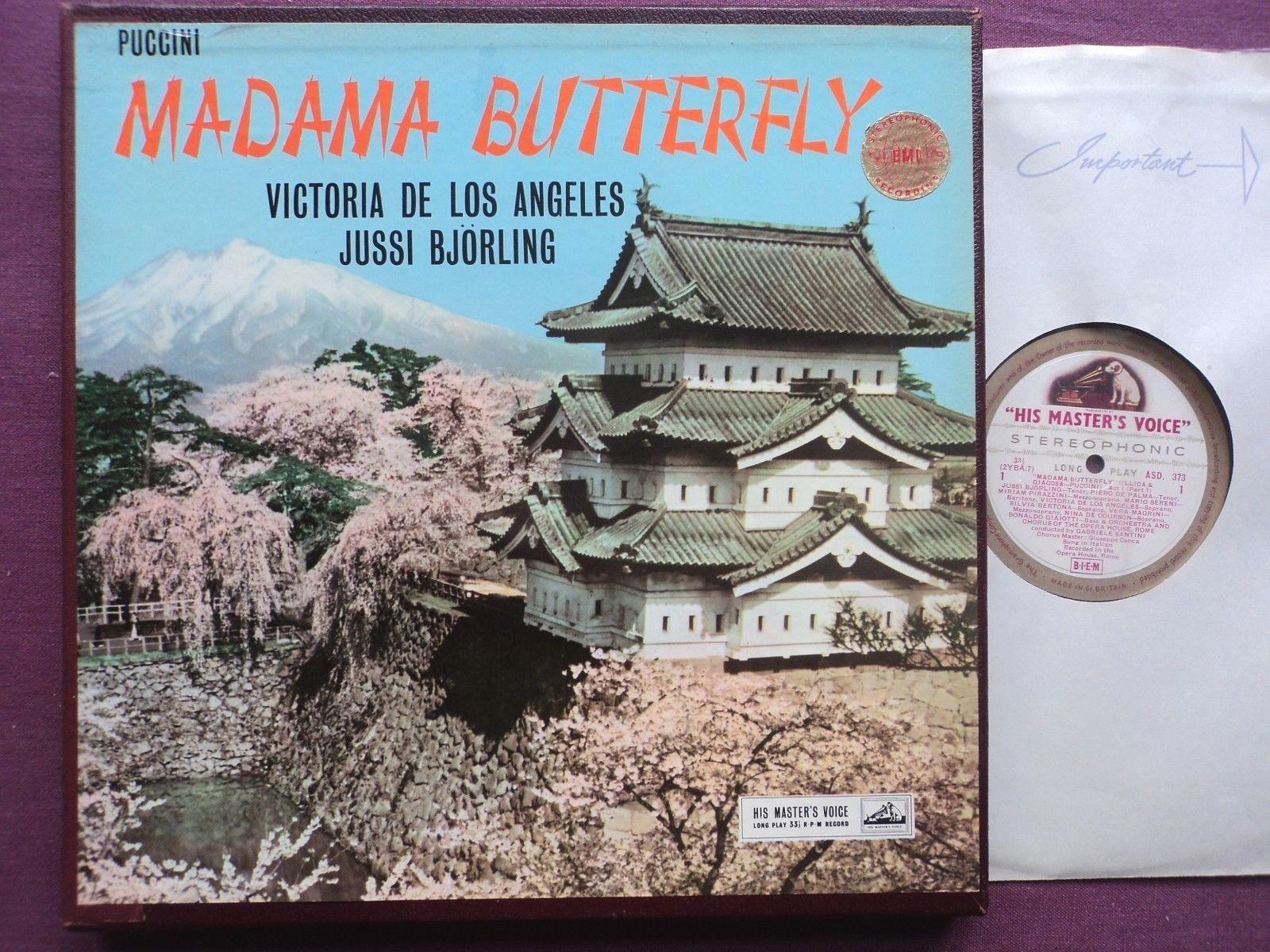 ASD 373-5, g/c UK orig. PUCCINI: Madame Butterfly, DE LOS ANGELES, BJÖRLING, NM