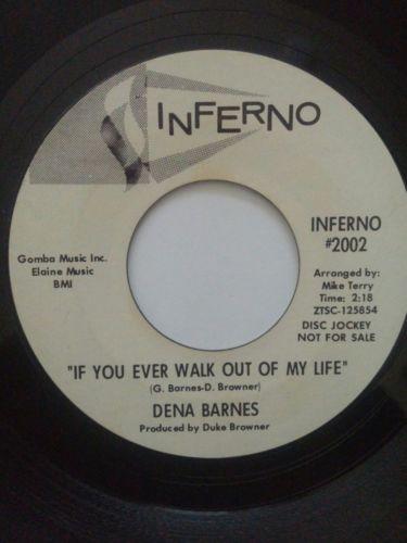 Dena Barnes - Who Am I / If You Ever... Rare Original Northern Soul Promo 45