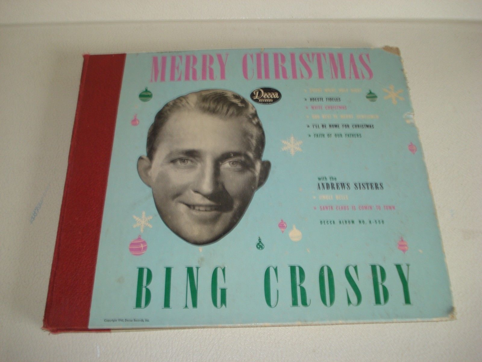 Bing Crosby Christmas Album.Popsike Com 1940 S Bing Crosby Merry Christmas Decca