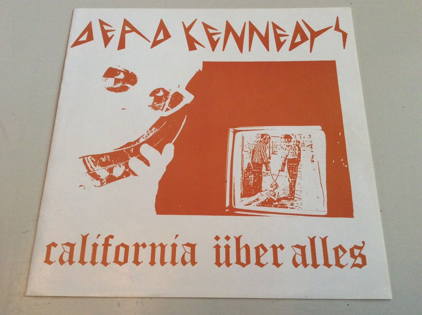 """DEAD KENNEDYS CALIFORNIA UBER ALLES   RARE PUNK 7"""" FOLDOUT PICTURE SLEEVE  1979"""