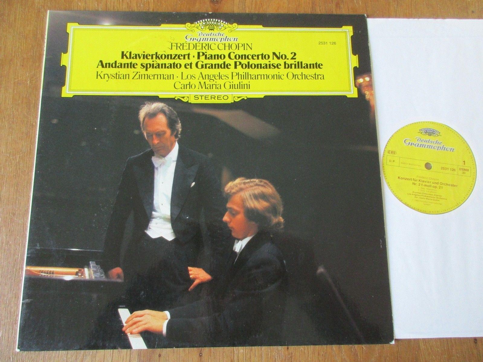 Chopin - Piano Conc 2 etc / Zimerman / LAPO / Giulini / DG 2531 126 / Stereo ED1