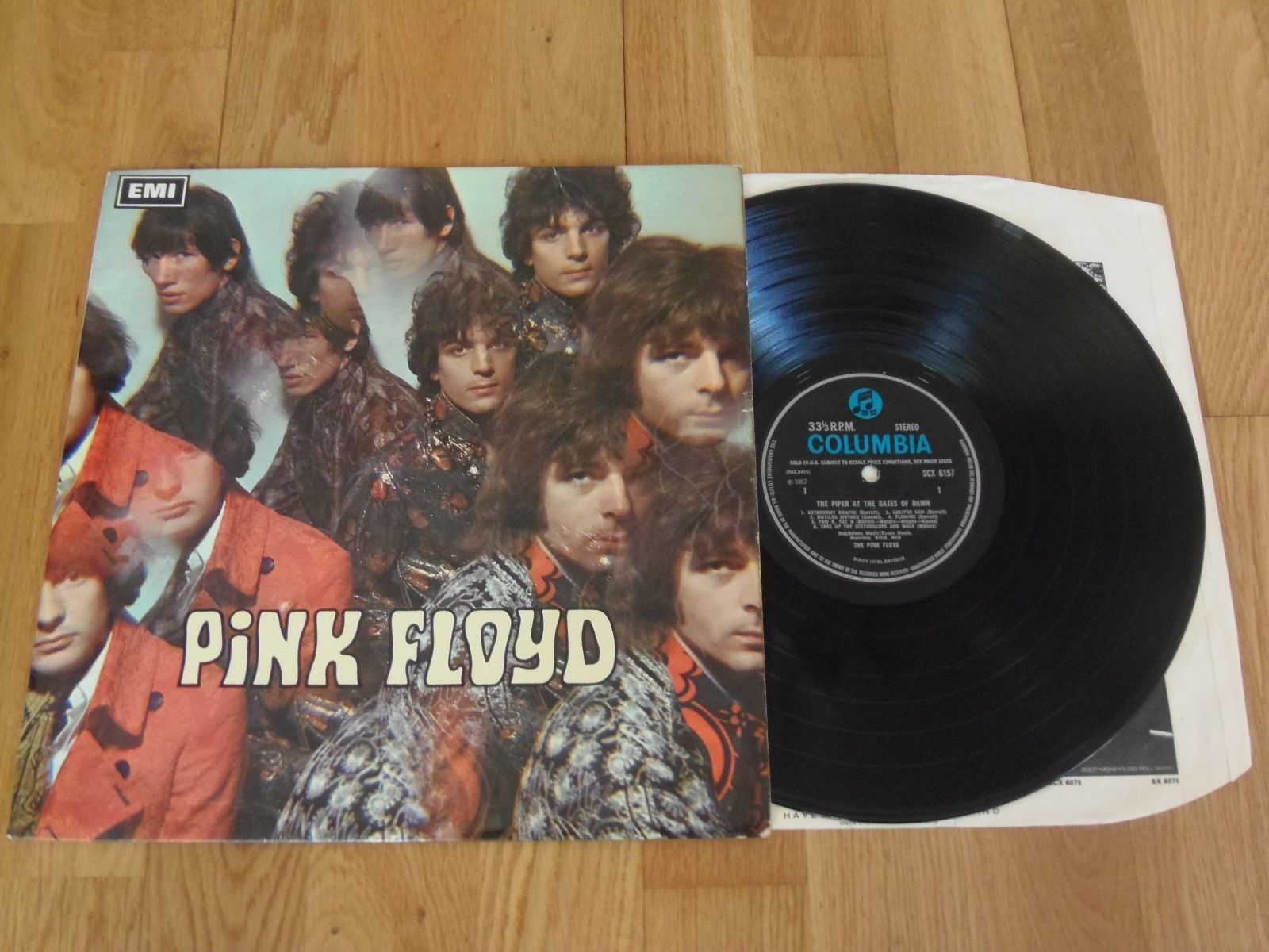 PINK FLOYD PIPER AT THE GATES OF DAWN Blue Columbia SCX 6157 G1/G1 NO 'FUP' EX+
