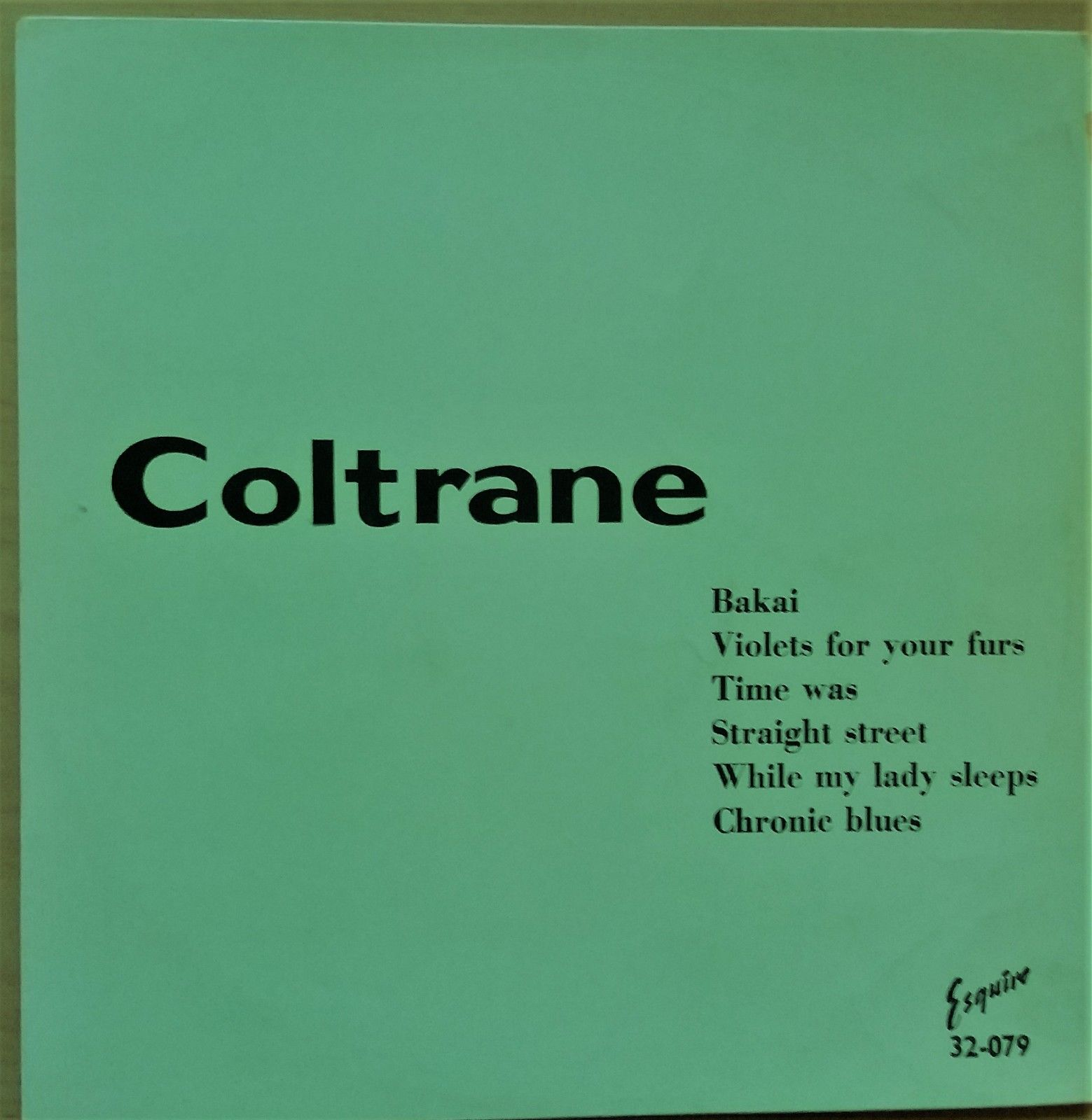 """""""Coltrane"""" title of Esquire LP 32-079 by John Coltrane from late 1950s EX-/VG+"""
