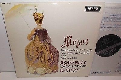 SXL 6259 Mozart Piano Concertos Nos.8 & 9 Vladimir Ashkenazy LSO Kertesz ED2 WBG