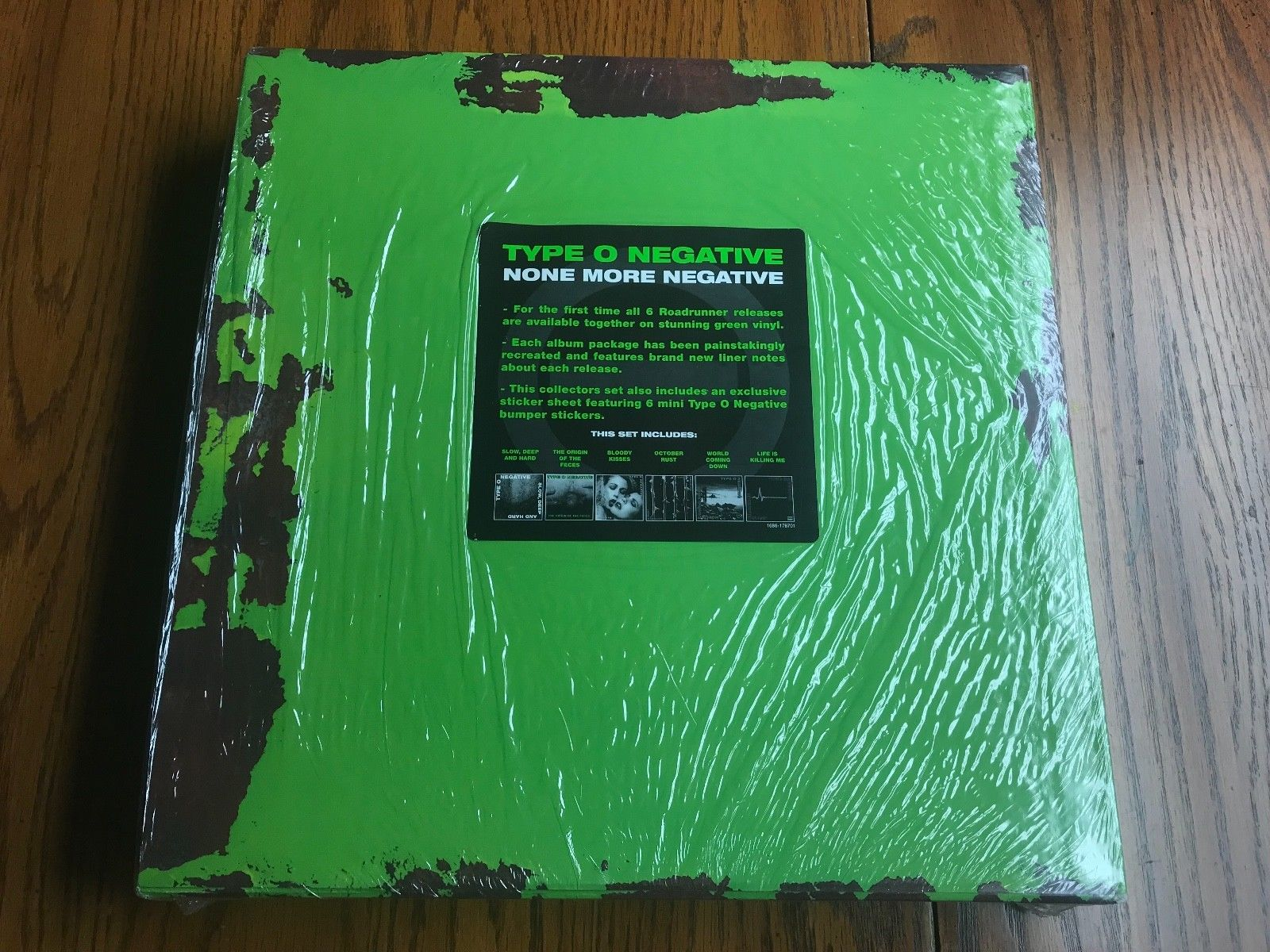 TYPE O NEGATIVE NONE MORE NEGATIVE VINYL BOX SET GREEN VINYL RARE