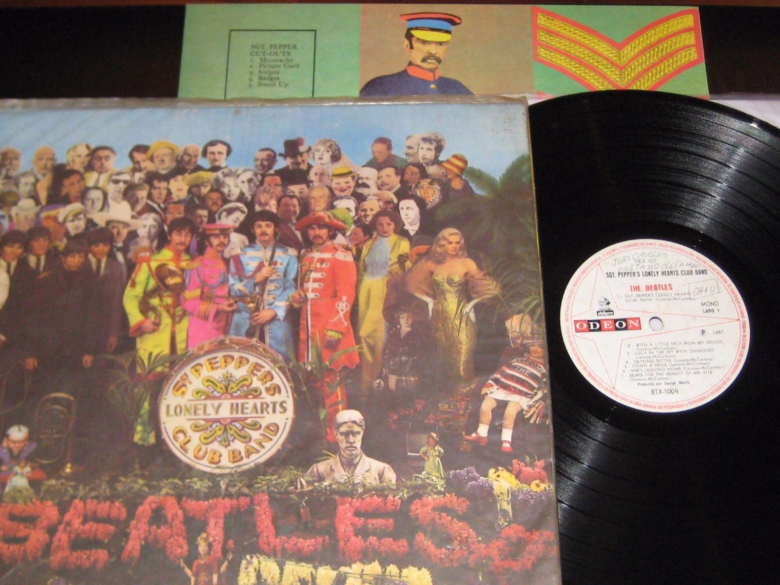 Popsikecom Beatles Sgt Peppers Lhcb Vinyl Record Lp Mono Odeon