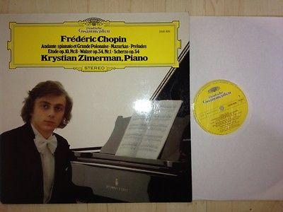 Zimerman PIANO Chopin Mazurkas Preludes Etude DG stereo ED1 NM-