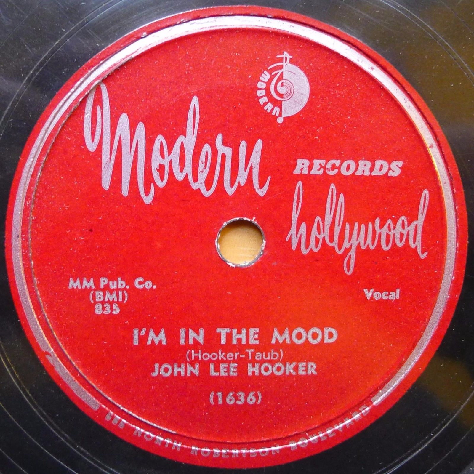 JOHN LEE HOOKER 78 MODERN 1635 I'M IN THE MOOD