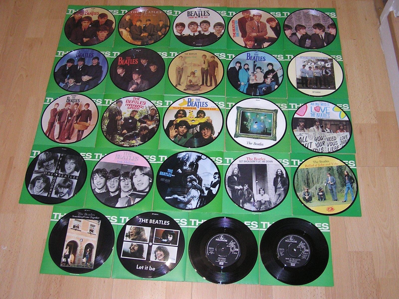 The Beatles - picture disc vinyle single collection + nombreux bonus