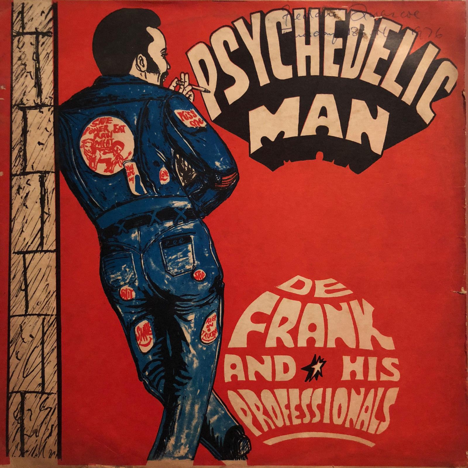 DE FRANK & HIS PROFESSIONALS - PSYCHEDELIC MAN LP Afro Funk Ghana ORIGINAL